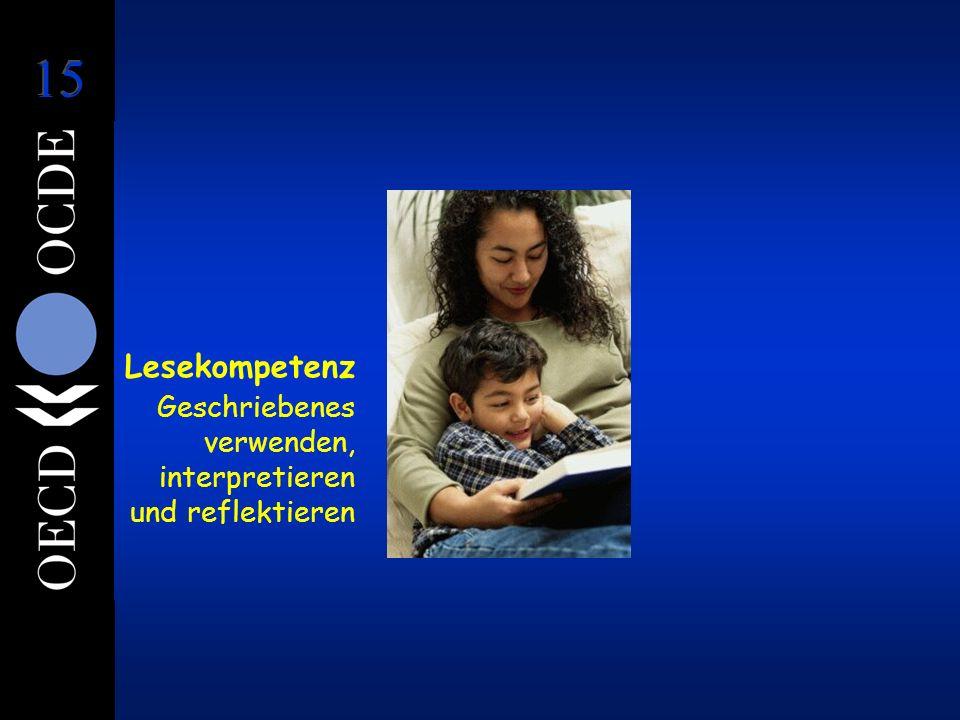 Lesekompetenz Geschriebenes verwenden, interpretieren und reflektieren