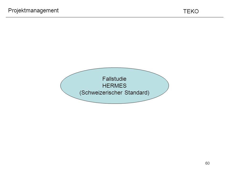 60 Projektmanagement TEKO Fallstudie HERMES (Schweizerischer Standard)