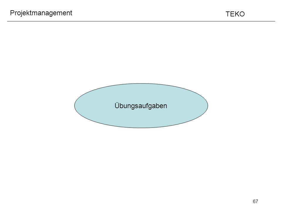 67 Projektmanagement TEKO Übungsaufgaben