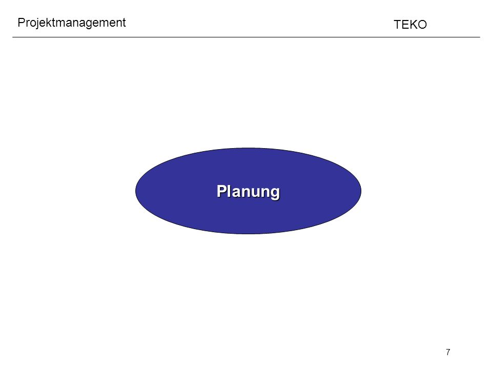 8 Projektmanagement TEKO Planung Zeit Kontext rund um Planung -Situationsanalyse -Ziele (messbar) -Lösung(en) -Wissen über System -Szenarien Aktionsplan Aktuelle Vorgehens- beschreibung mit integriertem Risikomanagement Szenarien Modell der realen Welt