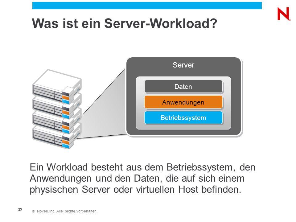 © Novell, Inc. Alle Rechte vorbehalten. 23 Was ist ein Server-Workload.