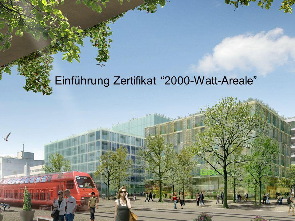 Intep – Integrale Planung GmbH Einführung Zertifikat 2000-Watt-Areale