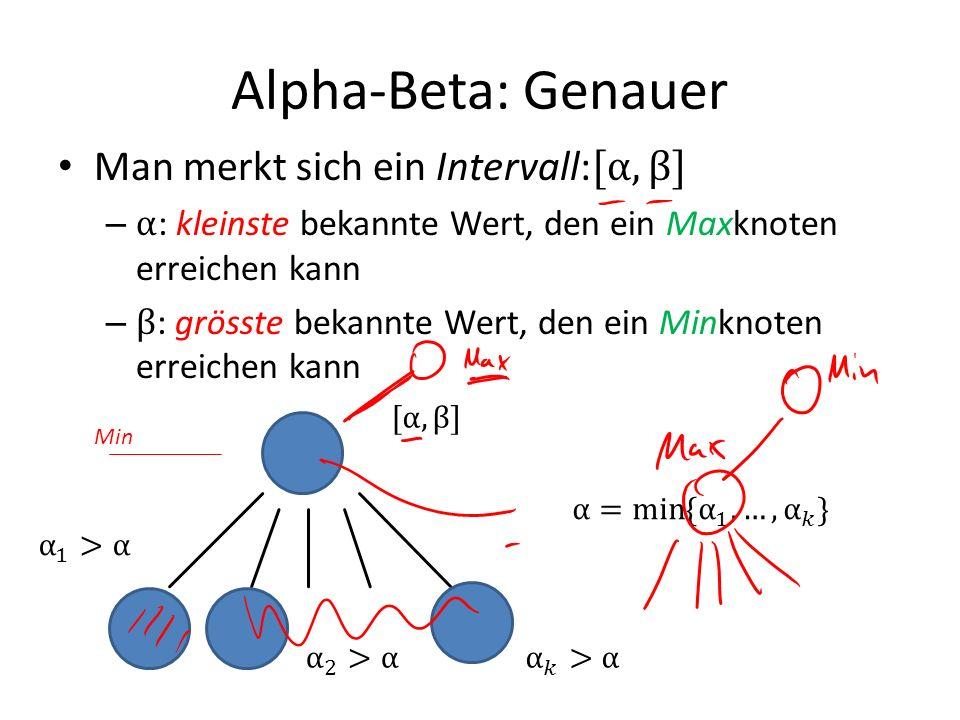 Alpha-Beta: Genauer Min
