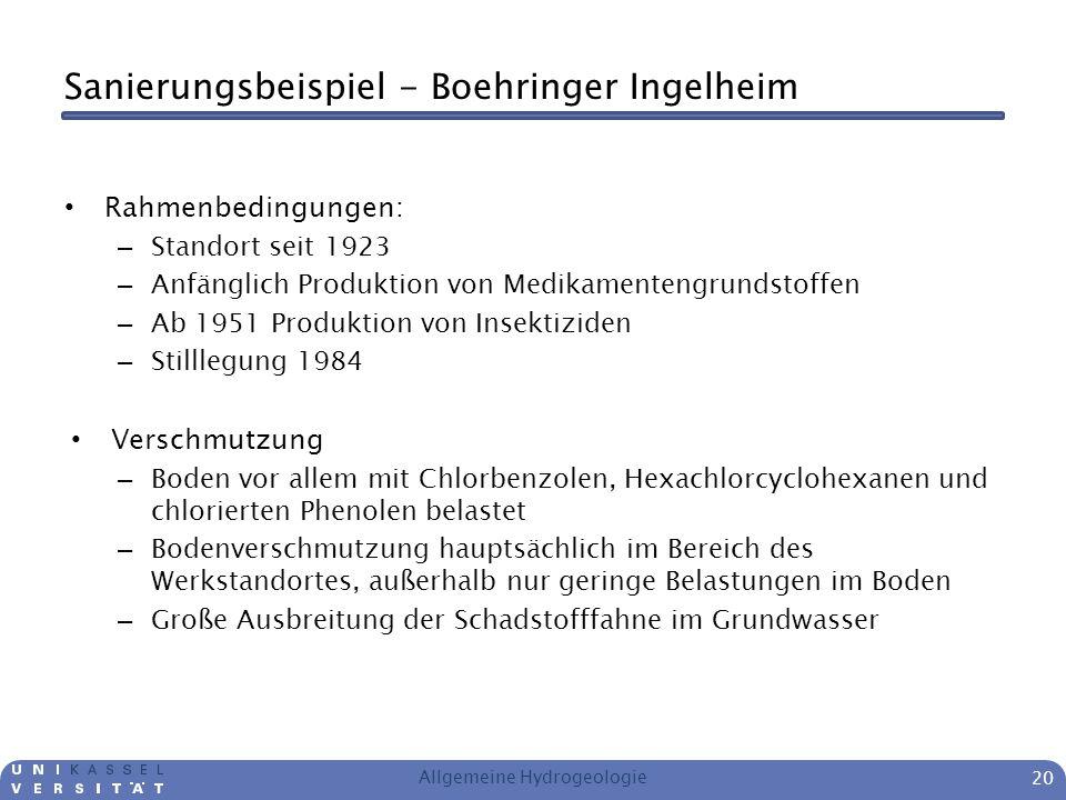 Sanierungsbeispiel - Boehringer Ingelheim Rahmenbedingungen: – Standort seit 1923 – Anfänglich Produktion von Medikamentengrundstoffen – Ab 1951 Produ