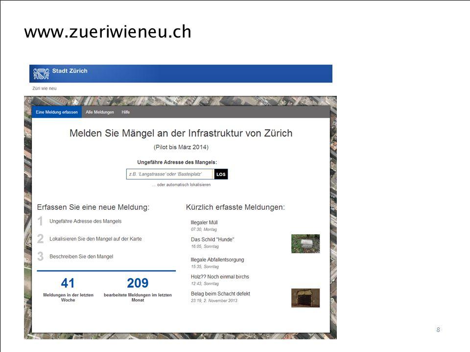 Berner Fachhochschule | Haute école spécialisée bernoise | Bern University of Applied Sciences www.zueriwieneu.ch 8