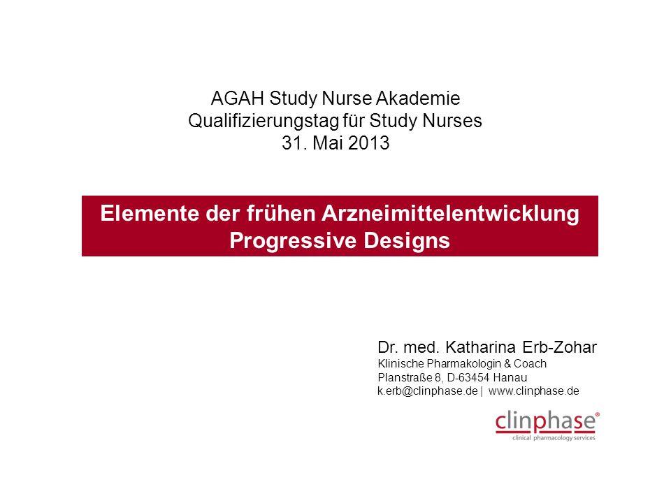 AGAH Study Nurse Akademie Qualifizierungstag für Study Nurses 31.