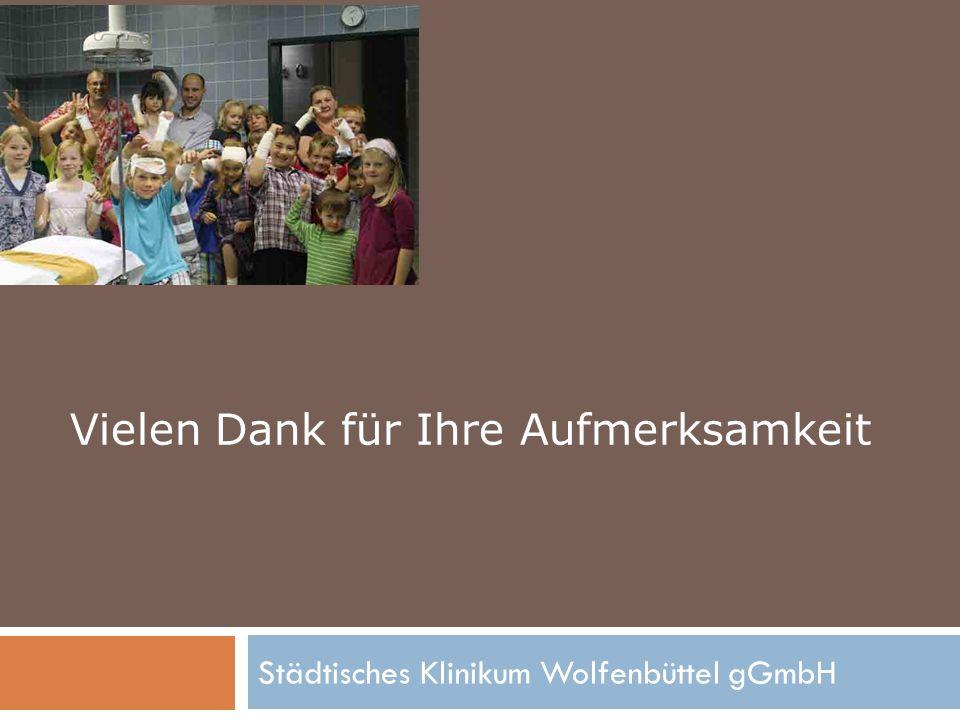 Städtisches Klinikum Wolfenbüttel gGmbH Vielen Dank für Ihre Aufmerksamkeit