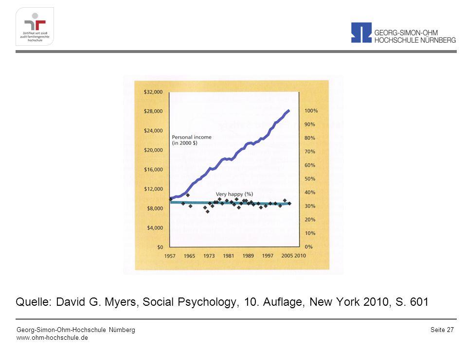 Quelle: David G. Myers, Social Psychology, 10. Auflage, New York 2010, S. 601 Georg-Simon-Ohm-Hochschule Nürnberg www.ohm-hochschule.de Seite 27