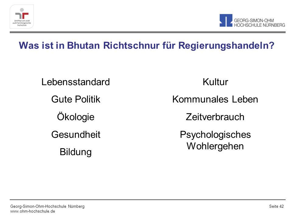 Was ist in Bhutan Richtschnur für Regierungshandeln.