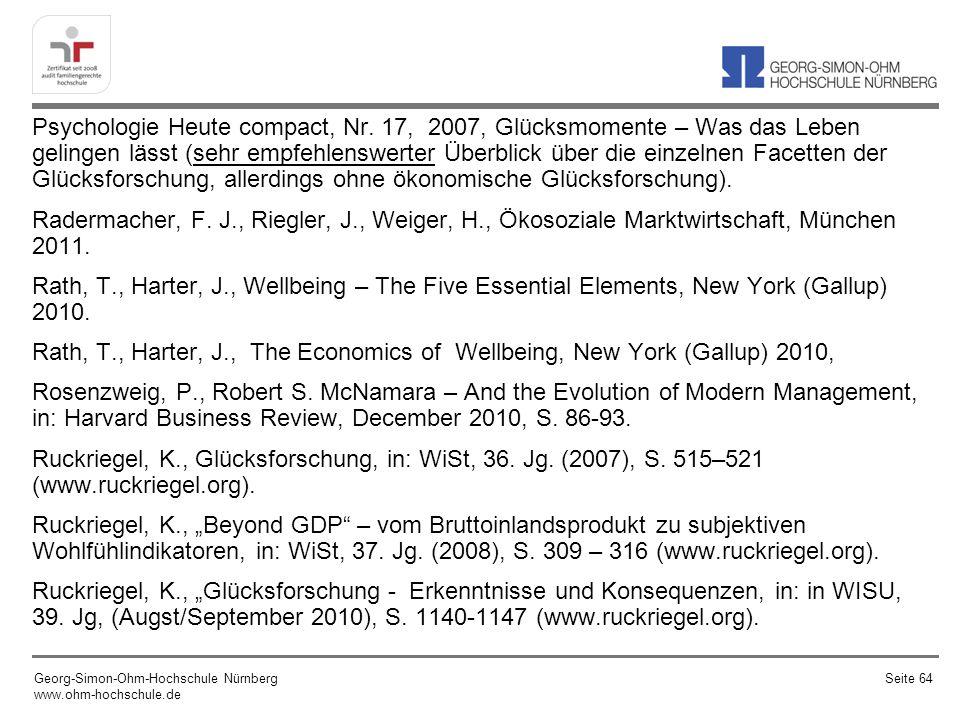 Psychologie Heute compact, Nr. 17, 2007, Glücksmomente – Was das Leben gelingen lässt (sehr empfehlenswerter Überblick über die einzelnen Facetten der