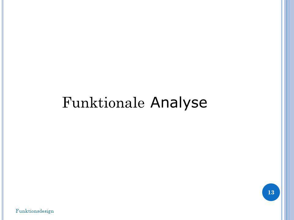 Funktionale Analyse 13 Funktionsdesign