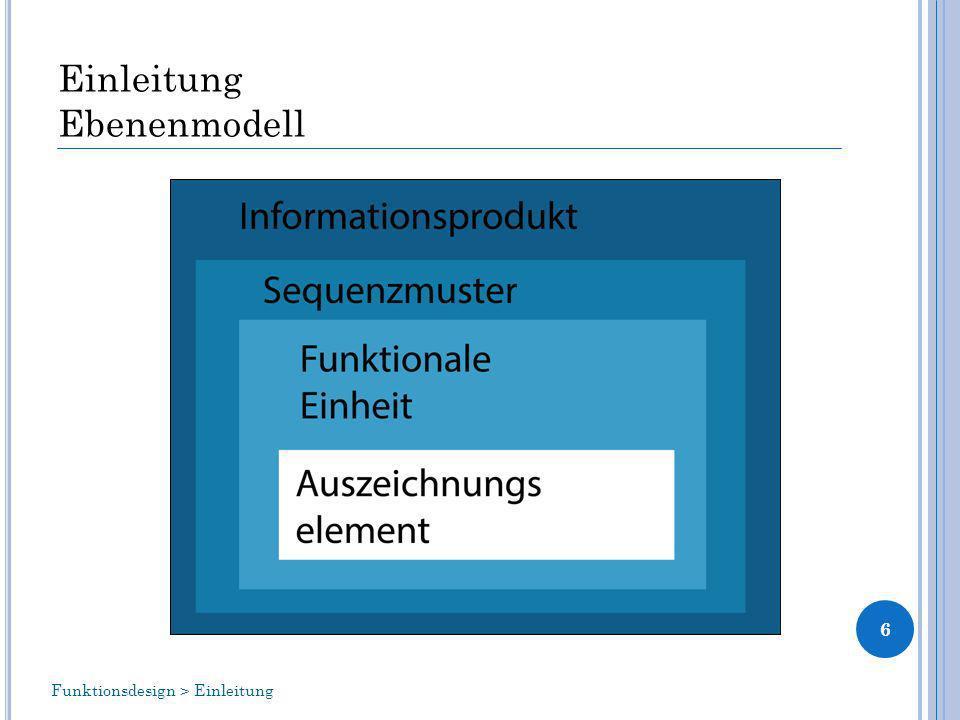 Einleitung Ebenenmodell 6 Funktionsdesign > Einleitung