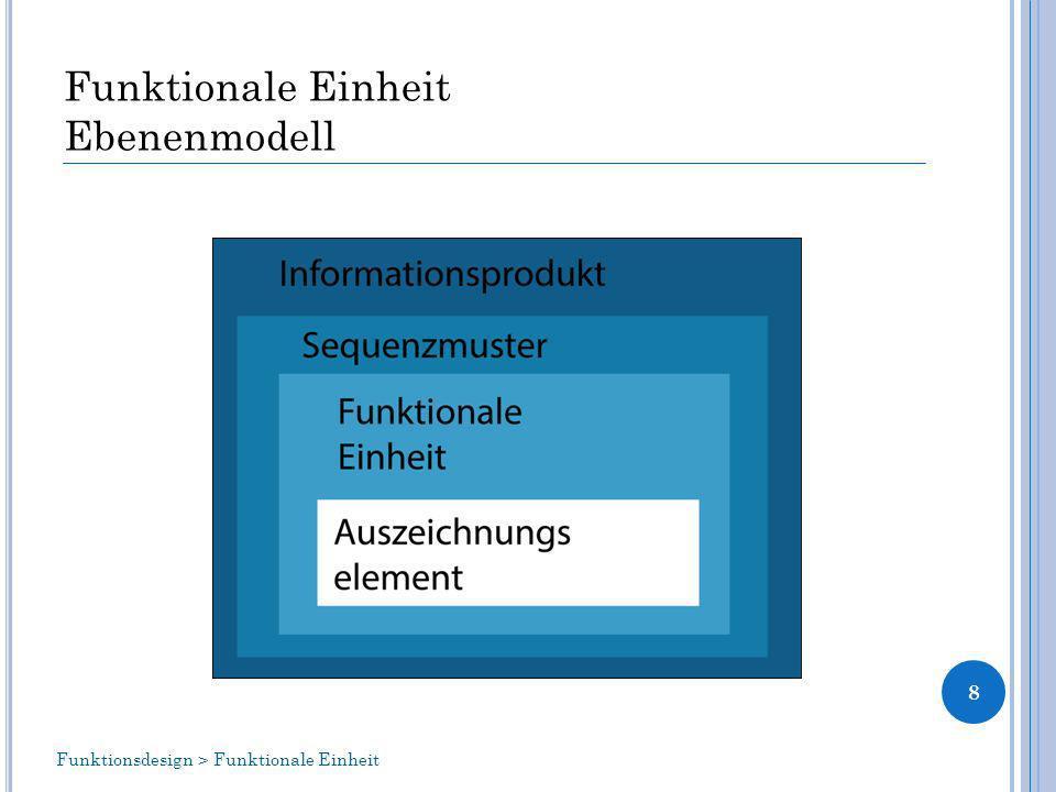 Funktionale Einheit Ebenenmodell 8 Funktionsdesign > Funktionale Einheit