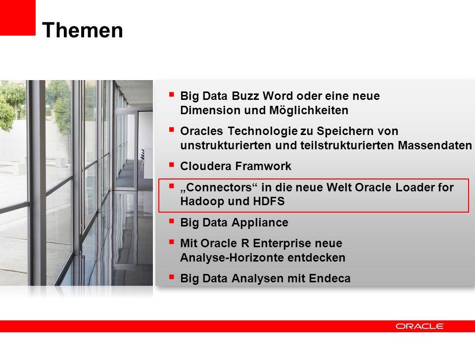 Big Data Buzz Word oder eine neue Dimension und Möglichkeiten Oracles Technologie zu Speichern von unstrukturierten und teilstrukturierten Massendaten