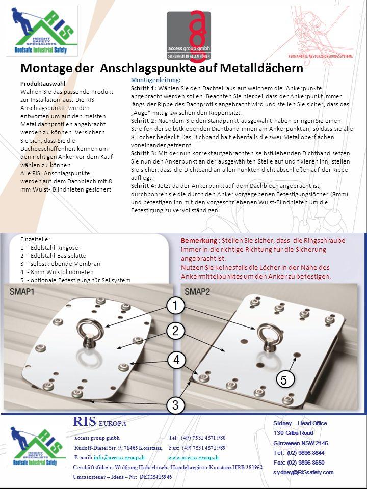 RIS EUROPA access group gmbh Tel: (49) 7531 4571 980 Rudolf-Diesel Str.
