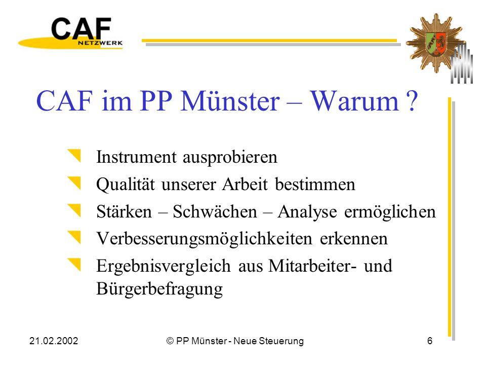 21.02.2002© PP Münster - Neue Steuerung7...
