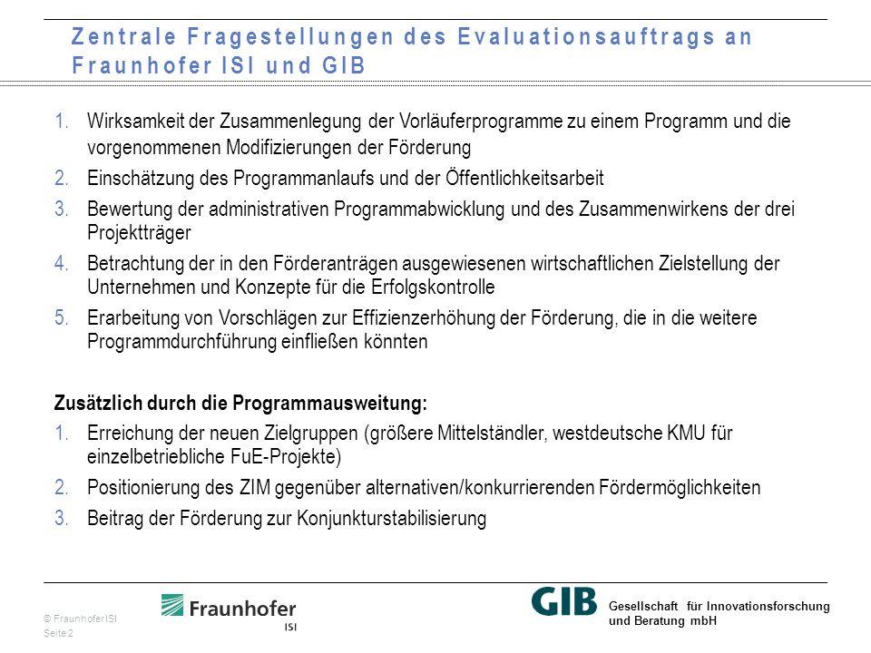 © Fraunhofer ISI Seite 13 Gesellschaft für Innovationsforschung und Beratung mbH Förderalternativen zum ZIM durch KMU nach Bundesländern: Überwiegend keine Prüfung, Länderprogramme eher in NBL