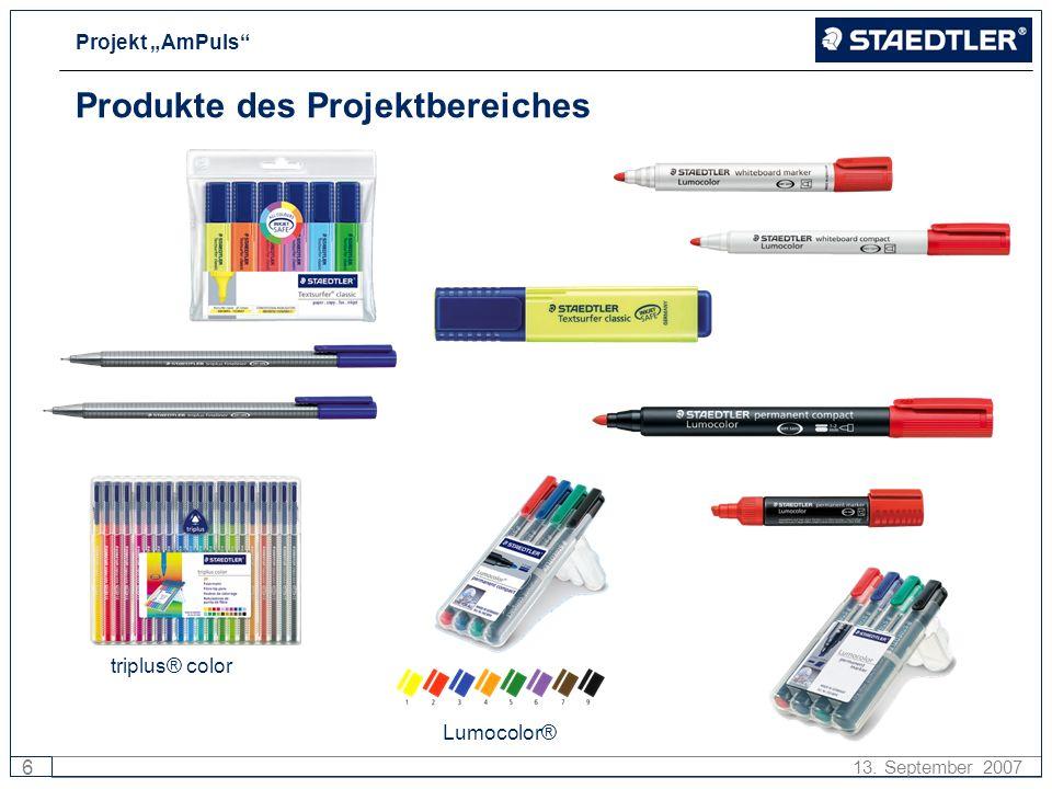 Projekt AmPuls 6 13. September 2007 Produkte des Projektbereiches triplus® color Lumocolor®