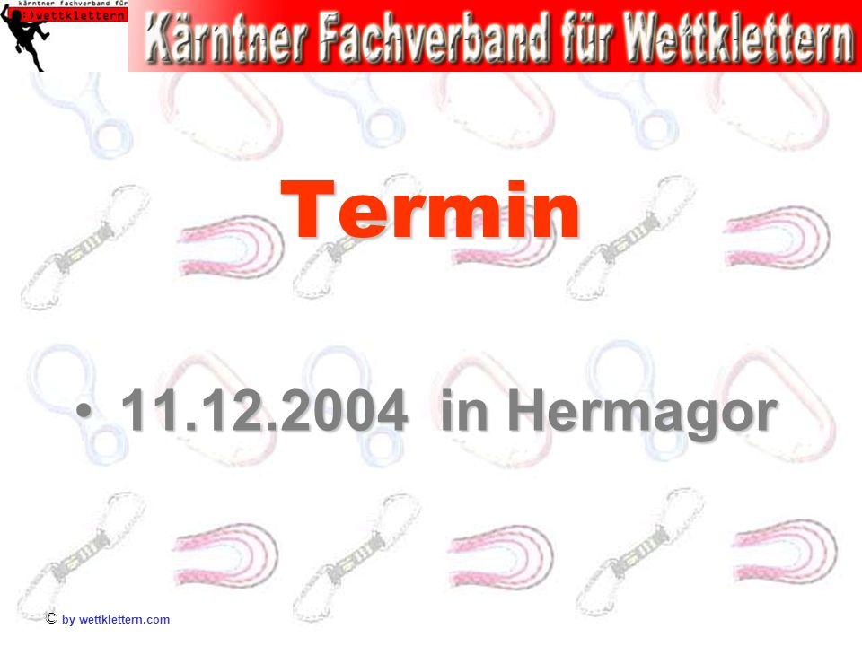 © by wettklettern.com Termin 11.12.2004 in Hermagor11.12.2004 in Hermagor
