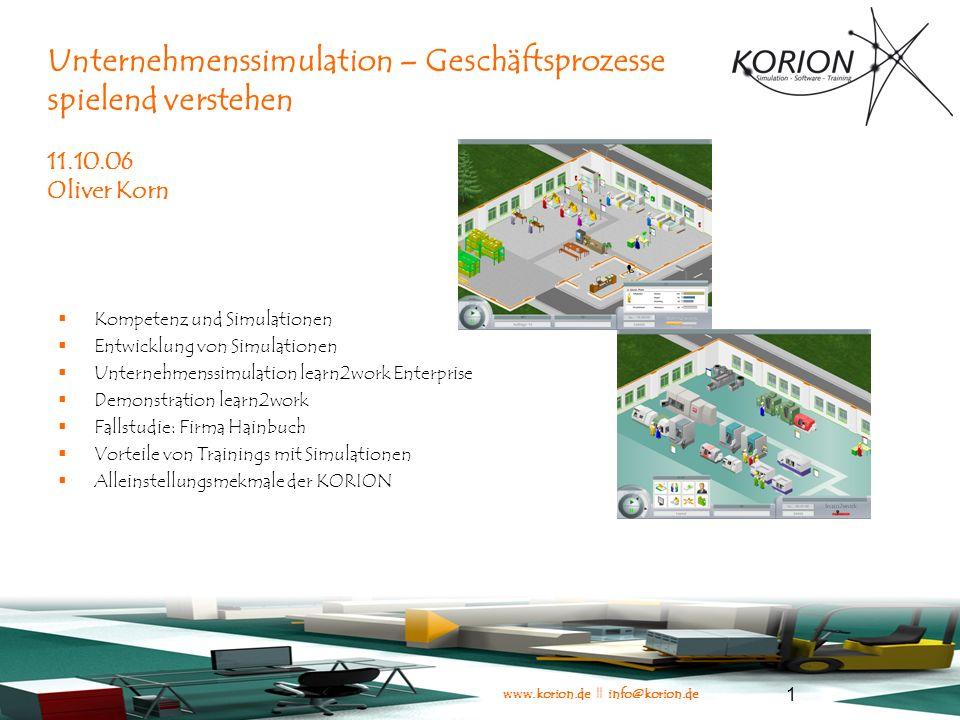 www.korion.de || info@korion.de 22 Einsatzbereiche für Simulationen (Andris-Studie)