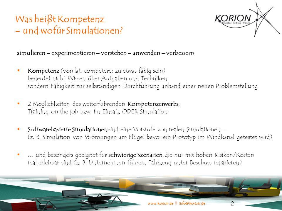 www.korion.de || info@korion.de 3 Wissensvermittlung versus Kompetenzvermittlung