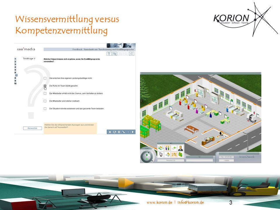 www.korion.de || info@korion.de 14 Kontakt KORION Simulation - Software - Training Theodor-Heuss-Str.