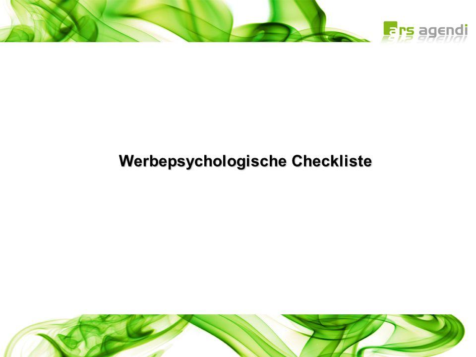 Werbepsychologische Checkliste