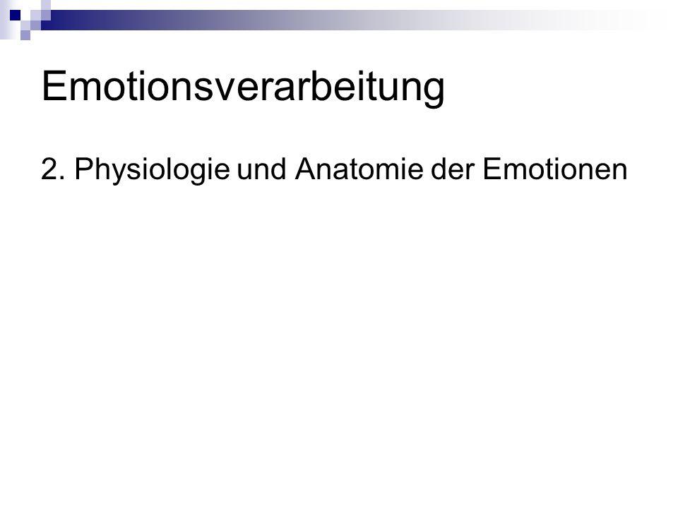 Emotionsverarbeitung 2. Physiologie und Anatomie der Emotionen