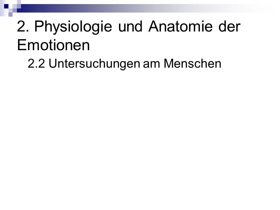 2. Physiologie und Anatomie der Emotionen 2.2 Untersuchungen am Menschen