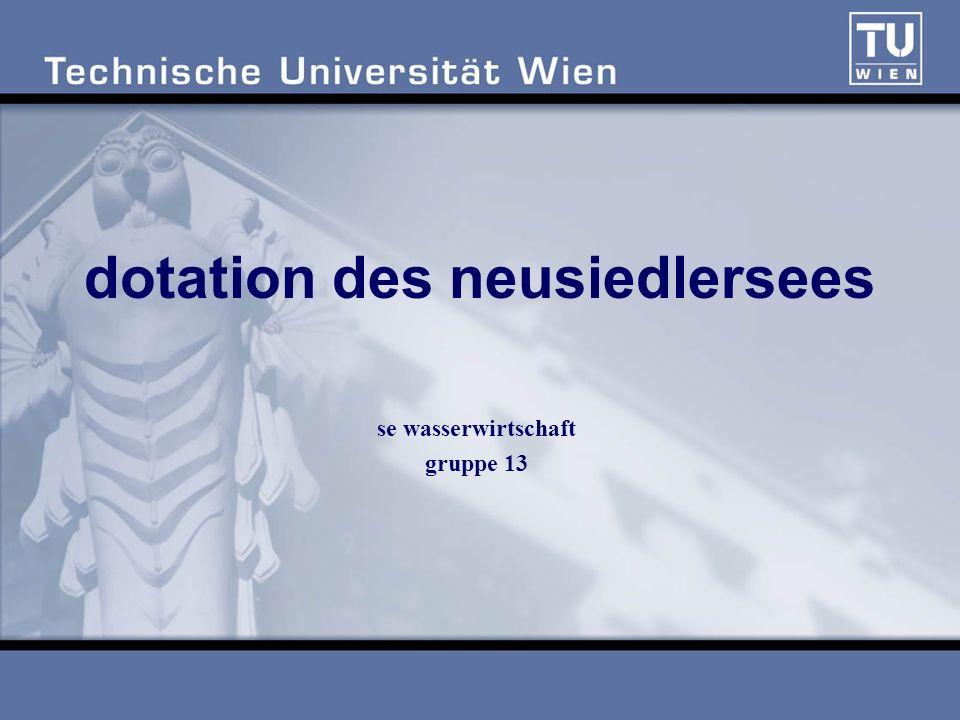 dotation des neusiedlersees se wasserwirtschaft gruppe 13