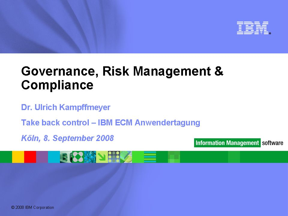 GRC Governance, Risk Management und Compliance sind vorrangig eine Frage von Disziplin, Führungsverantwortung und Organisation.
