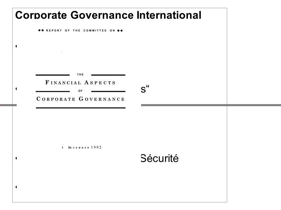 Corporate Governance International USA –COSO-Modell –COSO ERM-Framework Großbritannien: Reports –Cadbury Report, 1992 –Greenbury Report,1995 –Hampel R