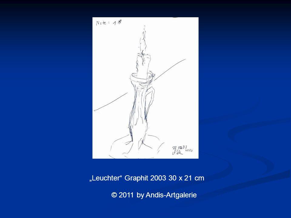 Leuchter Graphit 2003 30 x 21 cm © 2011 by Andis-Artgalerie