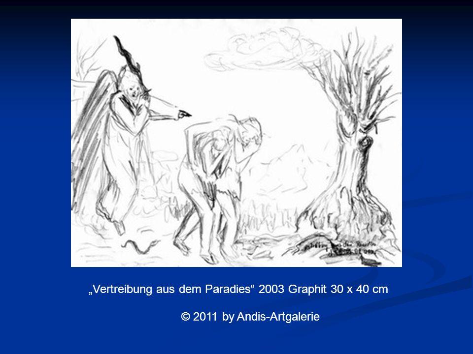 Vertreibung aus dem Paradies 2003 Graphit 30 x 40 cm © 2011 by Andis-Artgalerie