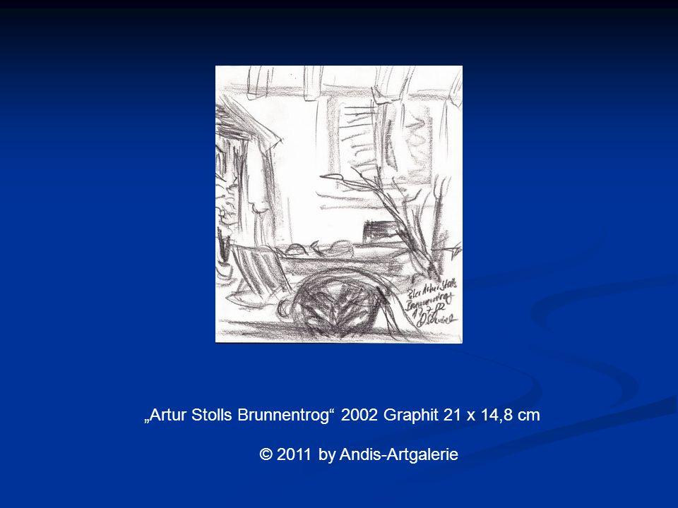 Artur Stolls Brunnentrog 2002 Graphit 21 x 14,8 cm © 2011 by Andis-Artgalerie
