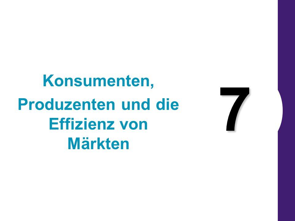 7 Konsumenten, Produzenten und die Effizienz von Märkten