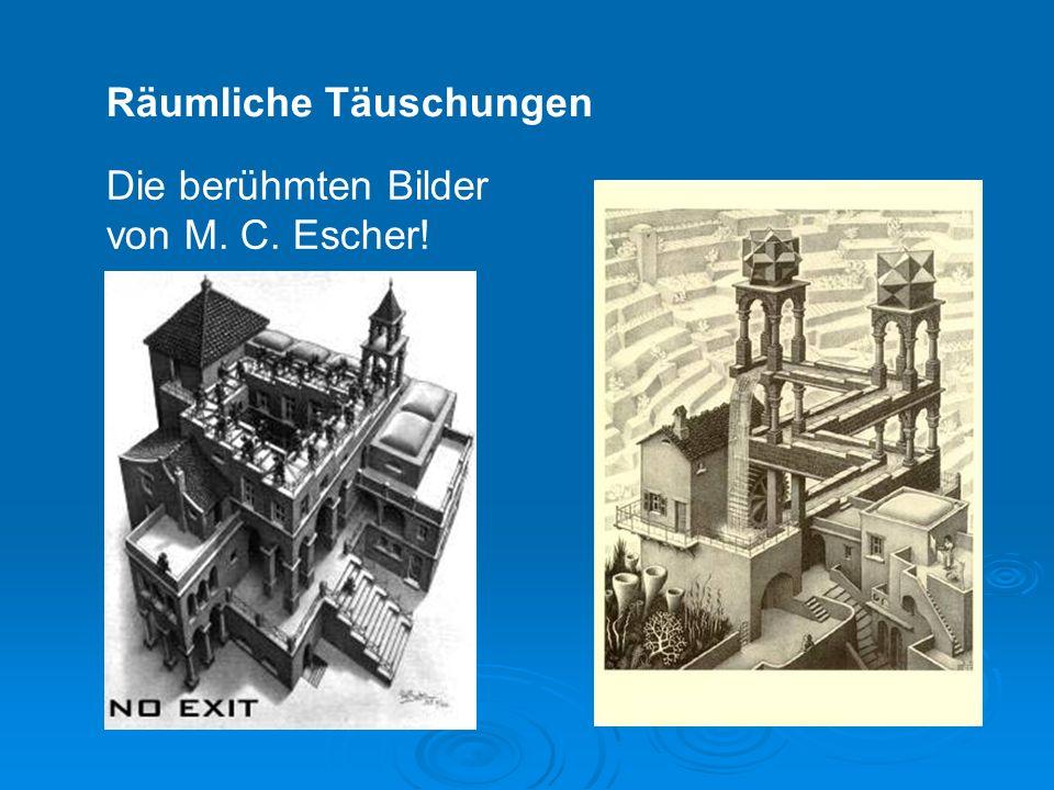 Räumliche Täuschungen Die berühmten Bilder von M. C. Escher!