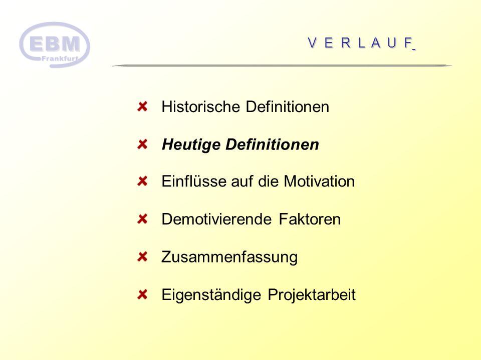 Intrinsische Motivation Die intrinsische Motivation besteht aus Interesse an der Sache selbst, d.h.