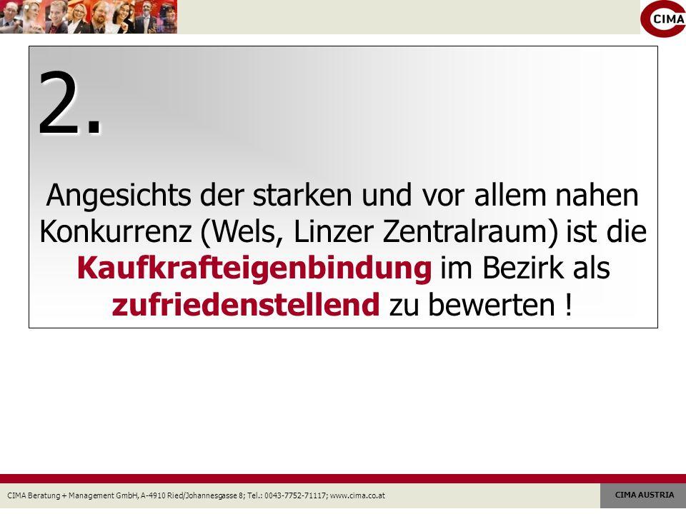 CIMA Beratung + Management GmbH, A-4910 Ried/Johannesgasse 8; Tel.: 0043-7752-71117; www.cima.co.at CIMA AUSTRIA 2. Angesichts der starken und vor all