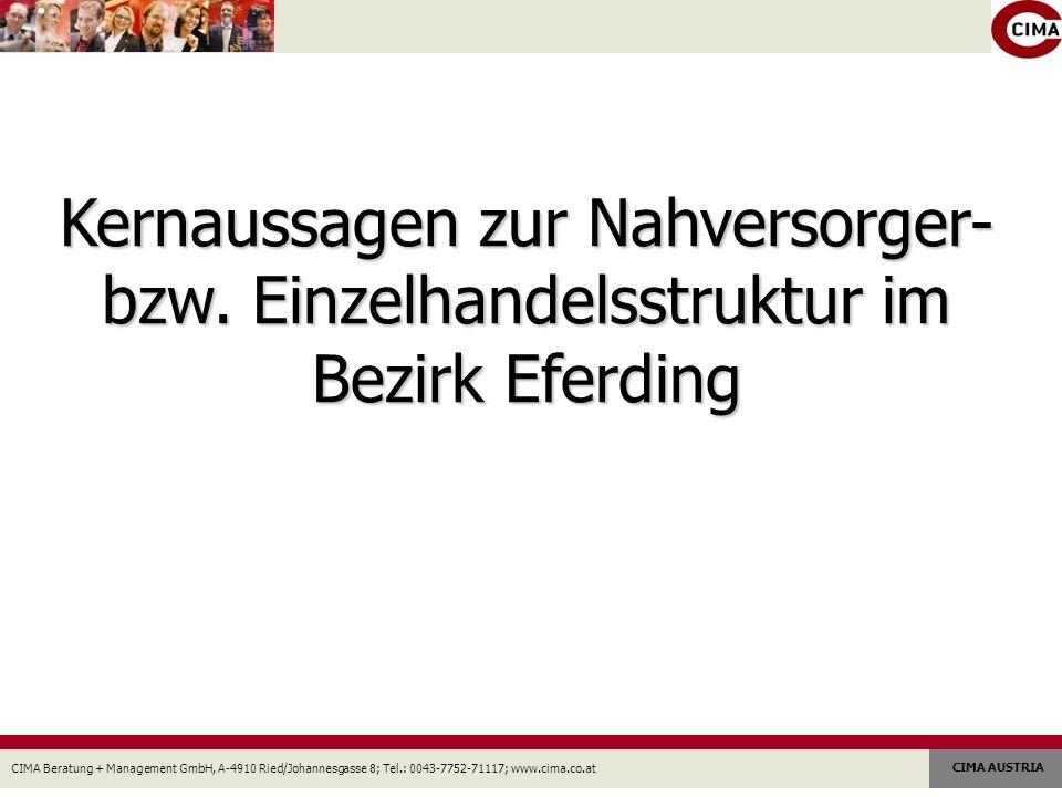 CIMA Beratung + Management GmbH, A-4910 Ried/Johannesgasse 8; Tel.: 0043-7752-71117; www.cima.co.at CIMA AUSTRIA 1.