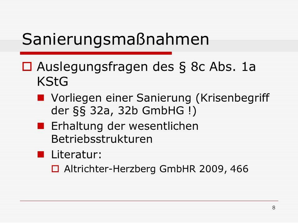 29 Sanierungsmaßnahmen Schuldumwandlung (sog.
