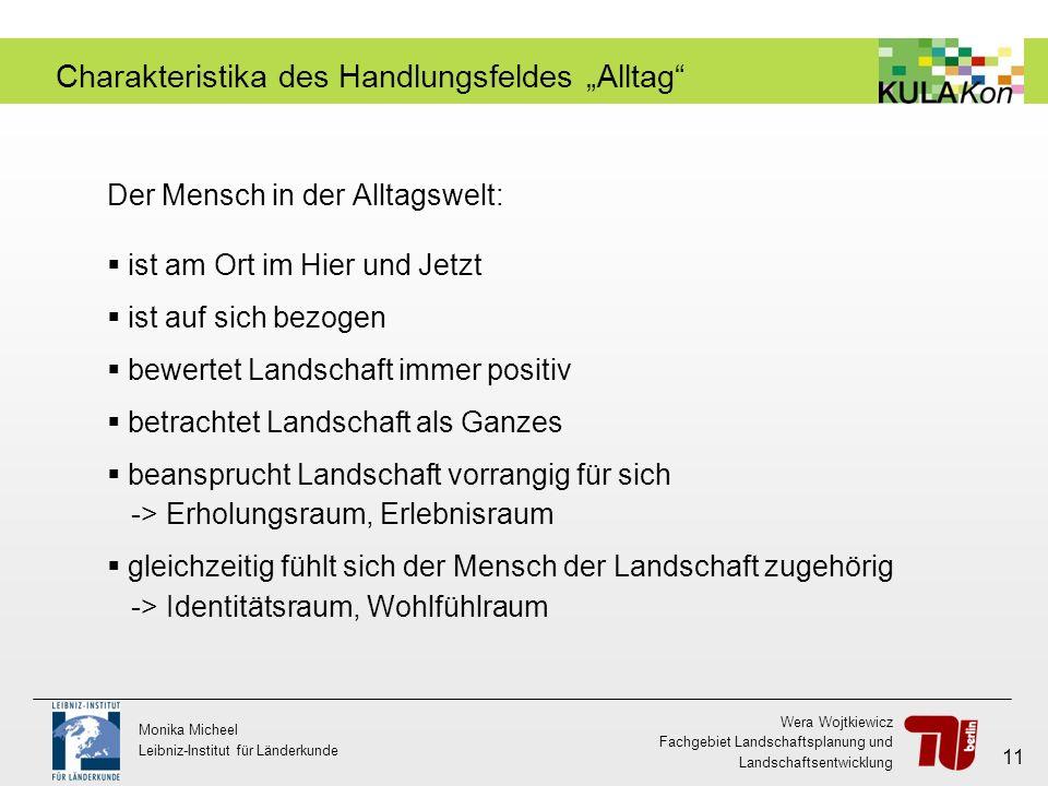 Wera Wojtkiewicz Fachgebiet Landschaftsplanung und Landschaftsentwicklung Monika Micheel Leibniz-Institut für Länderkunde 11 Charakteristika des Handl