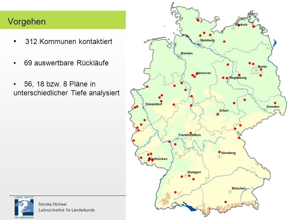 Wera Wojtkiewicz Fachgebiet Landschaftsplanung und Landschaftsentwicklung Monika Micheel Leibniz-Institut für Länderkunde 5 Vorgehen 312 Kommunen kont