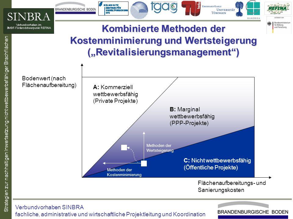 Strategien zur nachhaltigen Inwertsetzung nicht wettbewerbsfähiger Brachflächen Kombinierte Methoden der Kostenminimierung und Wertsteigerung (Revital