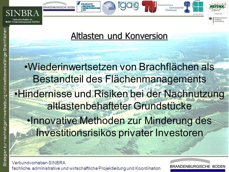 Strategien zur nachhaltigen Inwertsetzung nicht wettbewerbsfähiger Brachflächen Altlasten und Konversion Wiederinwertsetzen von Brachflächen als Besta
