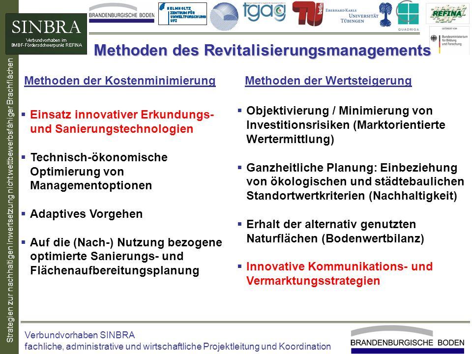 Strategien zur nachhaltigen Inwertsetzung nicht wettbewerbsfähiger Brachflächen Methoden des Revitalisierungsmanagements Objektivierung / Minimierung