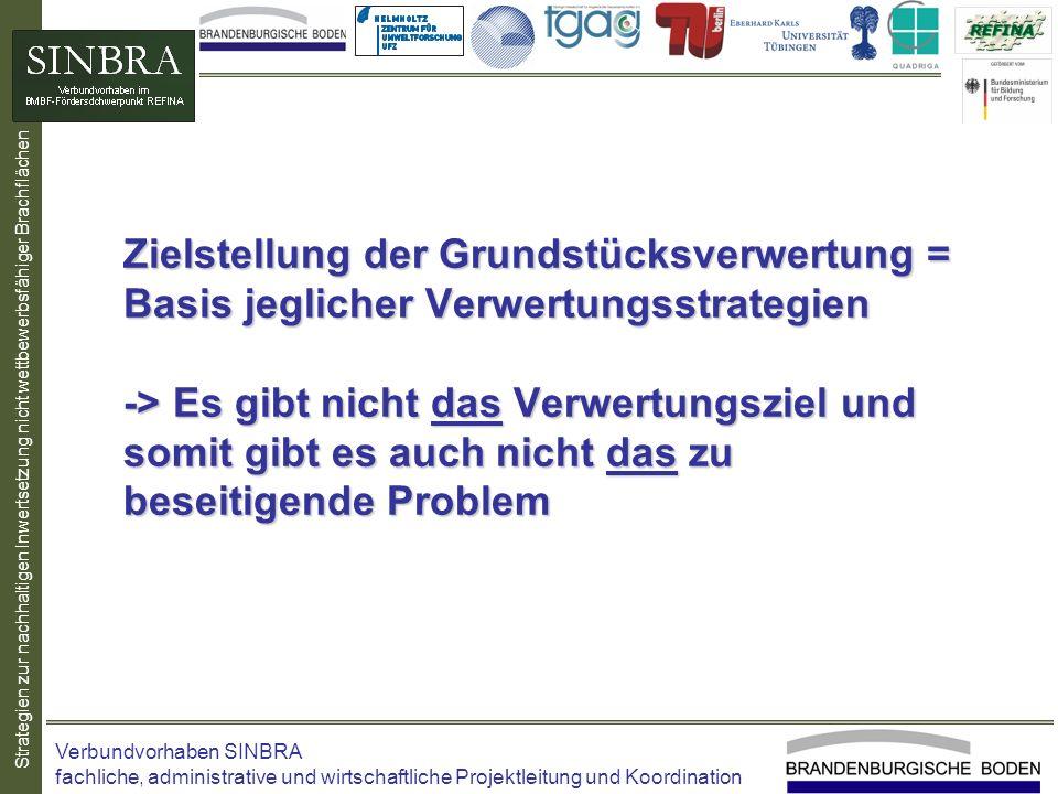Strategien zur nachhaltigen Inwertsetzung nicht wettbewerbsfähiger Brachflächen Zielstellung der Grundstücksverwertung = Basis jeglicher Verwertungsst