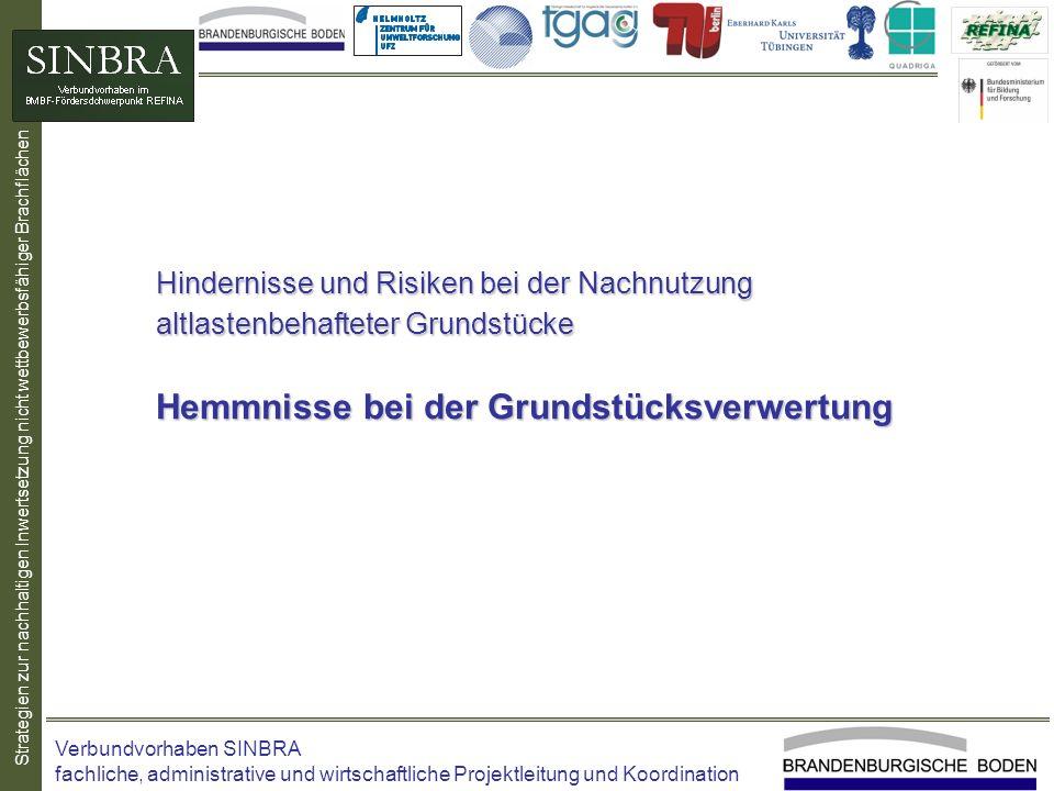 Strategien zur nachhaltigen Inwertsetzung nicht wettbewerbsfähiger Brachflächen Hindernisse und Risiken bei der Nachnutzung altlastenbehafteter Grunds