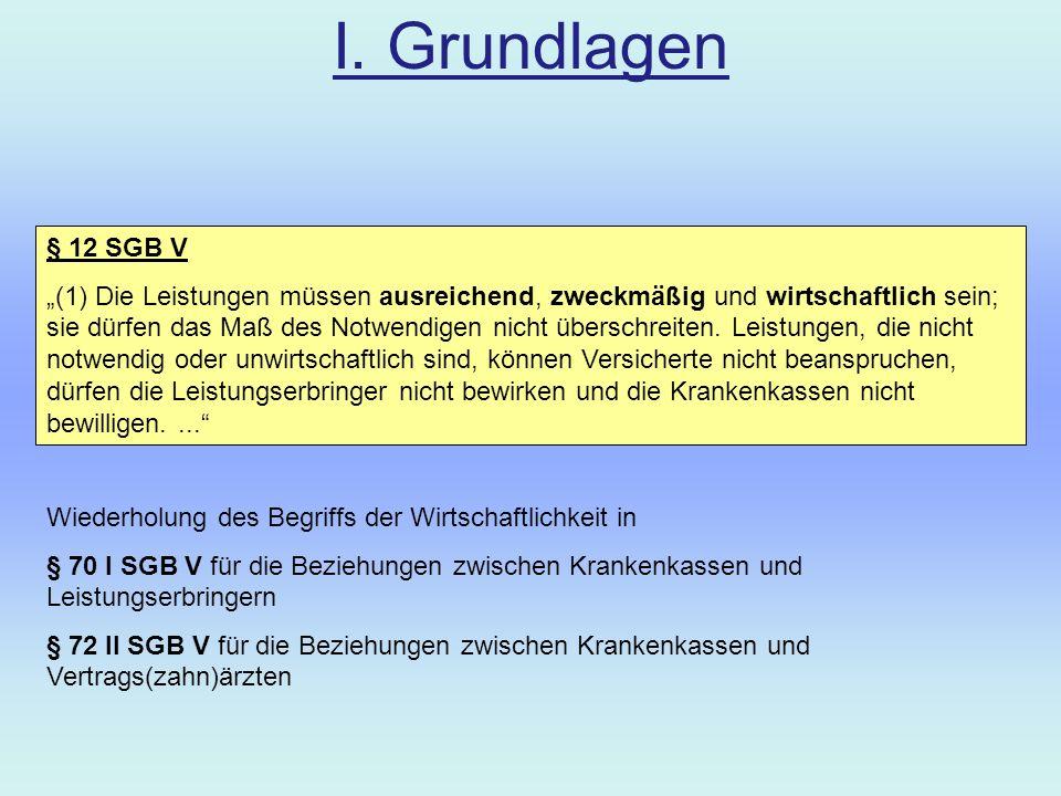 I.Grundlagen Hintergrund Solidarische Finanzierung der gesetzlichen Krankenversicherung v.a.