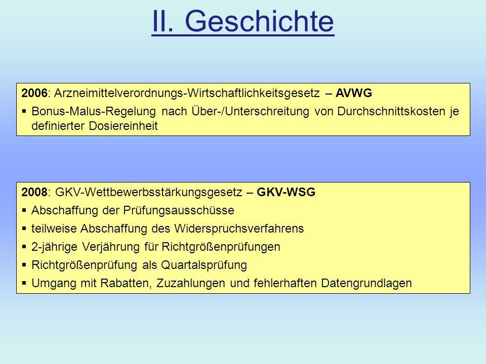 III.Zukunft 2. GKV-WSG Unmöglichkeit der Richtgrößenprüfung...